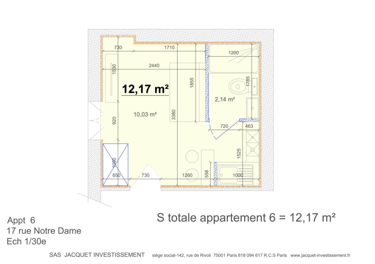 Plan appartement n°5